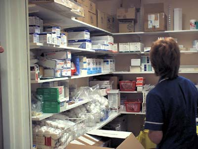 The drugs store.